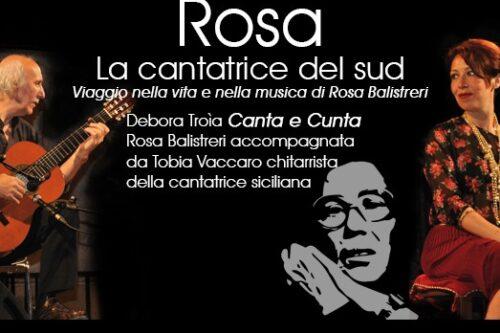 """""""Rosa, La Cantatrice Del Sud"""" al MU.ME."""